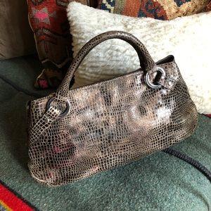 Hype Alligator Print Handbag